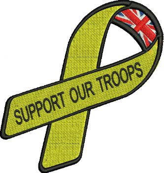 Support Our Troops Embroidered Badge